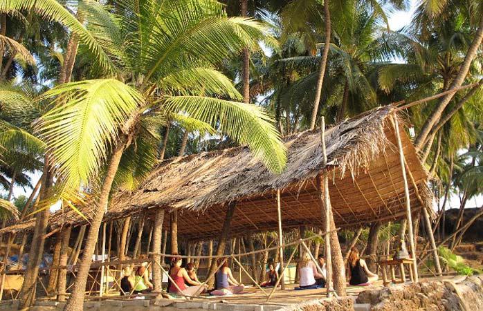 Vietä joogaloma Little Cove Yoga Retreatissa Intian Goassa